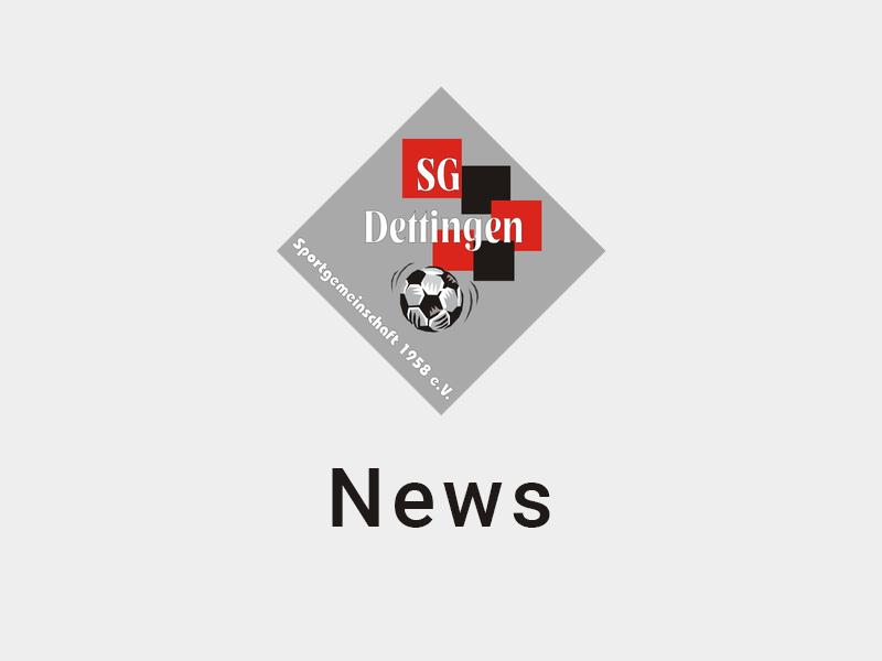 News von der SG Dettingen